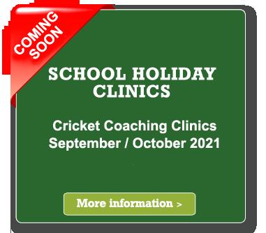 school holiday cricket coaching clinics september 2021
